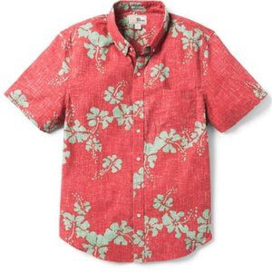 Reyn Spooner NWT 50th State Floral Red Shirt